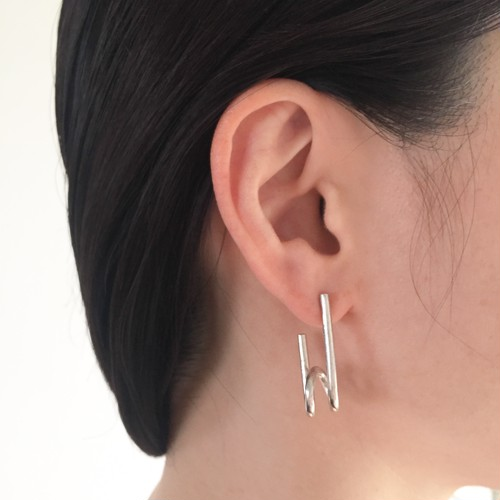 Safety pin pierced earrings