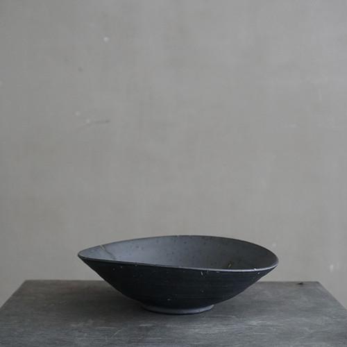 山本幸一 平皿(黒)