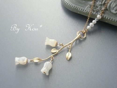 ~☾❄雪月風花✿*☽~vintage ネックレス。