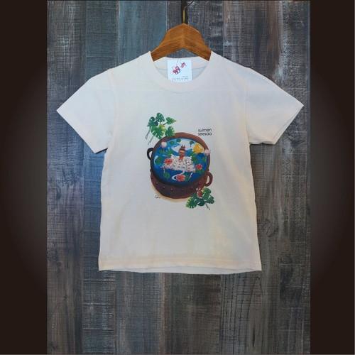 81.Tシャツ(子供100/120/140)水面シーサー