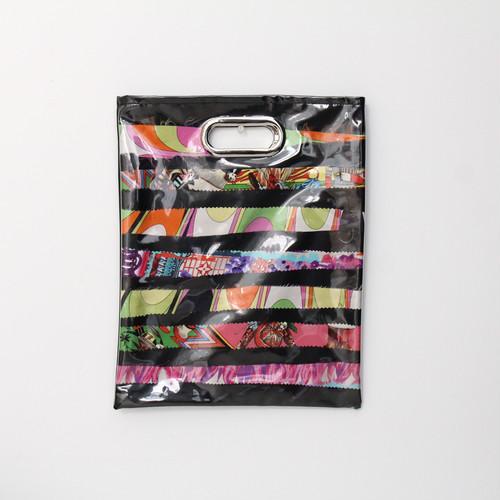 【一点もの】No.327   スカーフで作ったPVCクラッチバッグ