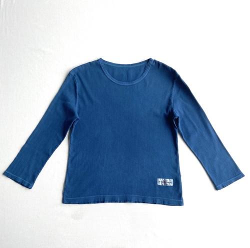 TONOBL×京都縮織山城 本藍染レディース七分袖シャツ