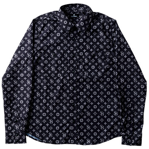 subciety  PATTERNED SHIRT L/S-monogram-