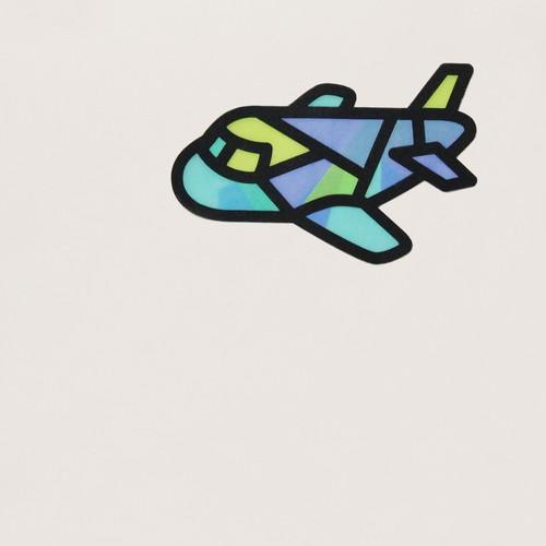 ペーパーステンドグラス手作りキット(ひこうき)