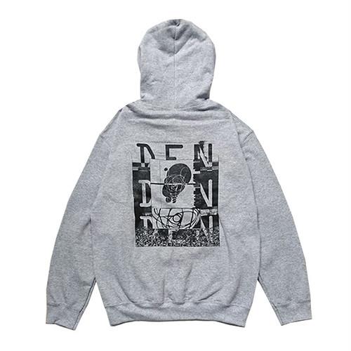 朱のべん/SYUNOVEN - 電人云々(いなずまびとうんぬん)DEN DEN DEN pullover (Grey)