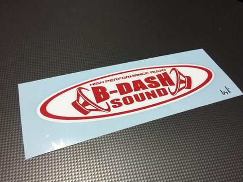 B-DASH SOUNDステッカー2枚貼り 送料無料