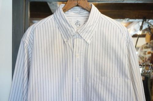 BLACK FLEECE by Brooks Brothers striped B.D. Shirt