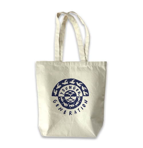 "YOUNGER GENERATION Tote Bag ""Sky&Sea""<NAVY>"