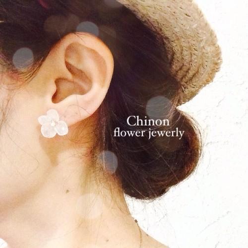 Chinon flower jewelry あじさいピアス
