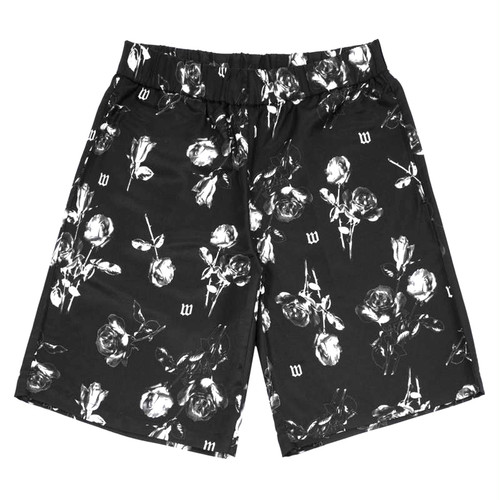 WASTED PARIS Allover Black Charming Shorts BLACK