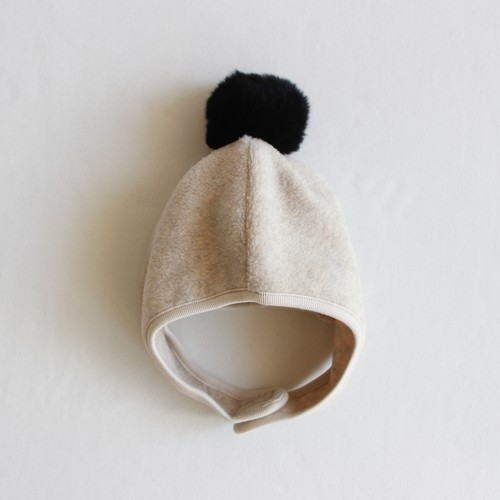 《chocolatesoup 2020AW》FLEECE POMPOM BONNET / beige