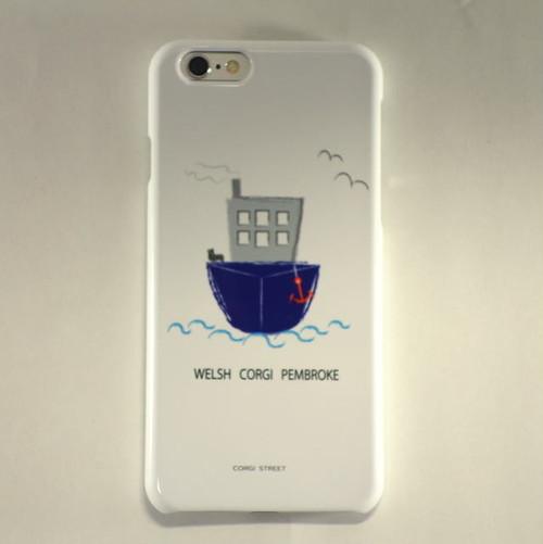 iPhone Plusケース WELSH CORGI PEMBROKE -乗り物とコーギー vol.1 SHIP-