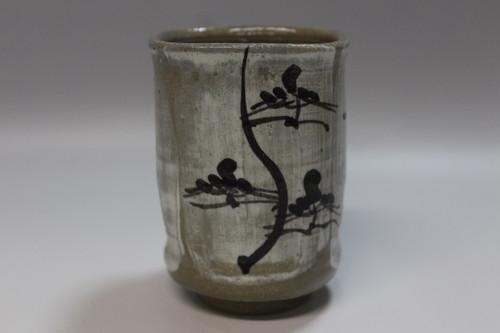 唐津刷毛目特製湯呑  藻風作