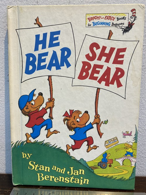 70's 洋書 児童書 HE BEAR SHE BEAR