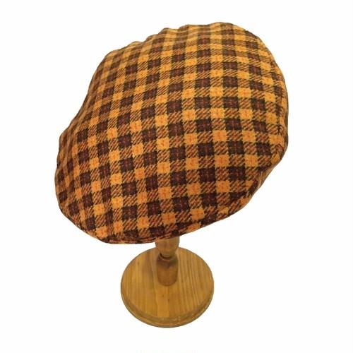 チェックベレー帽 YELLOW