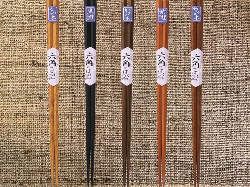 木箸 「六角箸」 ポストIN発送対応商品