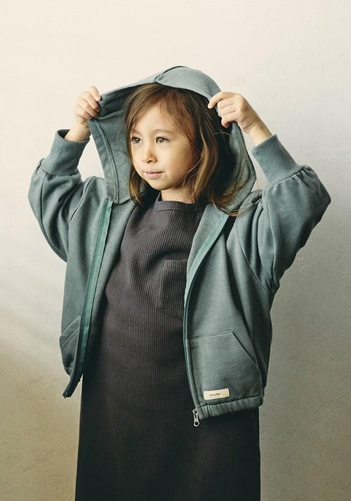 【undeny.】ビッグジップアップパーカー キッズ 710101
