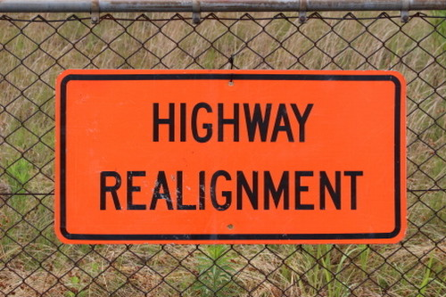 Vintege Road Sign (HighwayGealignment) ビンテージロードサイン
