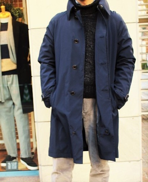 GENTRY COMPLEX Belted Single-breasted Coat Navy