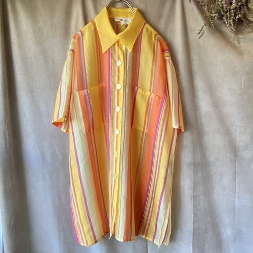 Italy vintage shirt/イタリア製上質生地の半袖シャツ