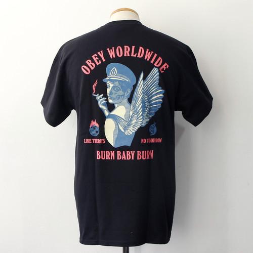 【OBEY】 BURN BABY BURN (BLACK)