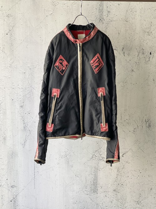 design nylon combi jacket