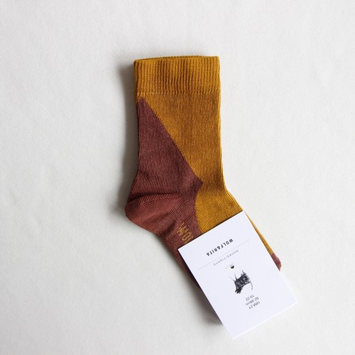 《WOLF & RITA 2020AW》SOCKS geometric / honey