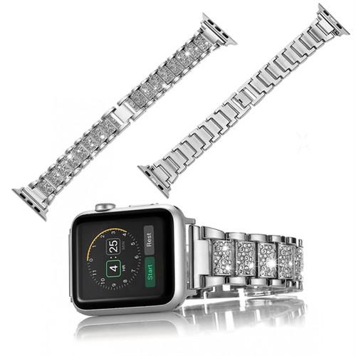 スクエア ブロック きらきら アップルウォッチ 替えベルト バンド ( ブラック ゴールド シルバー ピンクゴールド ) ★Apple Watch belt 38mm/42mm ★ [NW593]