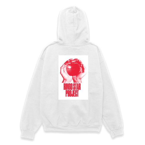 【L size】RINGO STAR PROJECT  White Hoodie