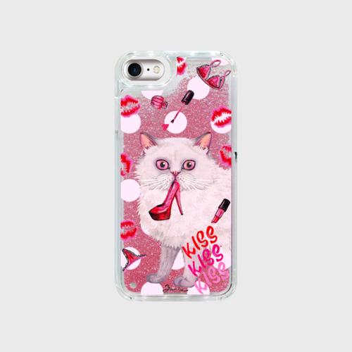 グリッタースマホケース「ペルシャ-ピンク」iPhone 6・7・8・X