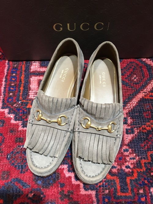 .GUCCI LEATHER HORSE BIT LOAFER MADE IN ITALY/グッチレザーホースビットローファー 2000000036731