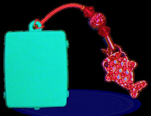 """触感時計""""タックタッチ"""" ストラップ型 振動の数で時刻がわかる ハテルマ・マリンブルー(沖縄、日本最南端の島 波照間島のニシ浜の海の色)"""
