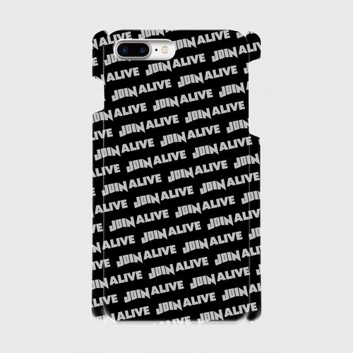 (通販限定)【送料無料】iPhone7Plus_スマホケース ストライプ_ブラック