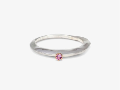 Sterling Silver ring + Pink Sapphire