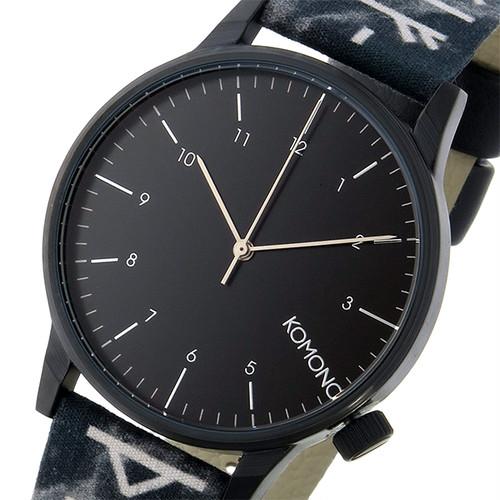 コモノ KOMONO Winston Rune-Black クオーツ メンズ 腕時計 KOM-W2160 ブラック ブラック