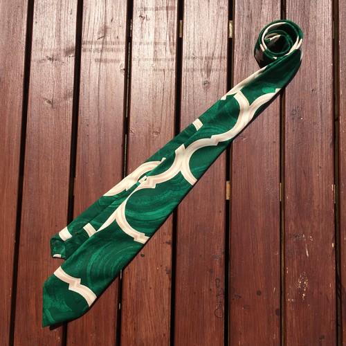 《一点もの》モロッコタイル柄 ネクタイ グリーン