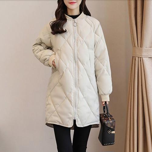 キルティング コート レディース 中綿コート 無地 ジップアップ 暖かい 可愛い 合わせやすい カジュアル 女性らしい オシャレ 秋冬 アウター ダウンコート