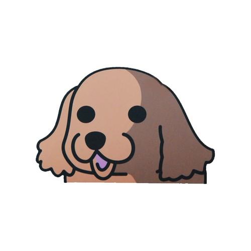 アメリカンコッカースパニエル(大) 犬ステッカー
