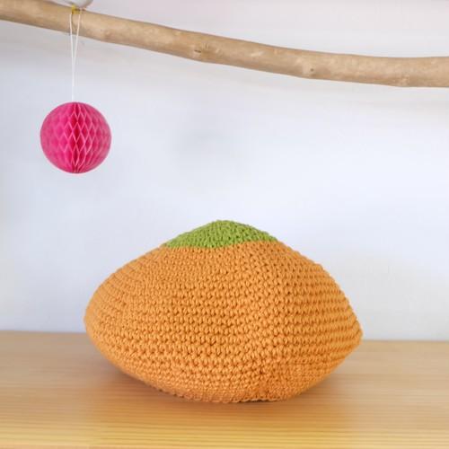 モンキーハンド / ニットベレー帽 グリーン×オレンジ