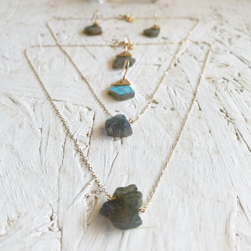 Labradrite slice necklace