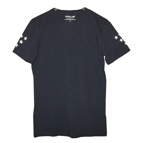 N°Dオリジナル/Sleeve STAR/スリムフィット/Tシャツ/ブラック