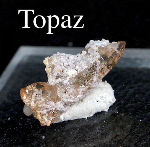 自主採掘!ユタ州産 トパーズ 1,4g 原石 標本 TZ0102 鉱物 パワーストーン 天然石