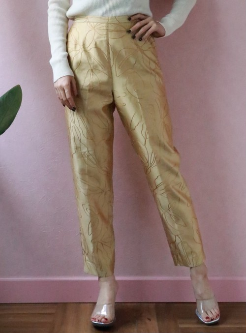 deadstock golden embroidery pants