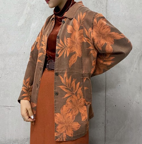 (PAL) flower pattern l/s shirt jacket