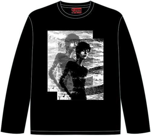 四つ辻の美少年 ロングスリーブTシャツ ブラック