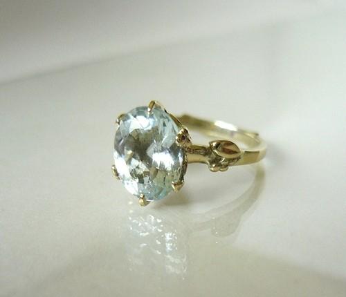 アクアマリンのk14の指輪