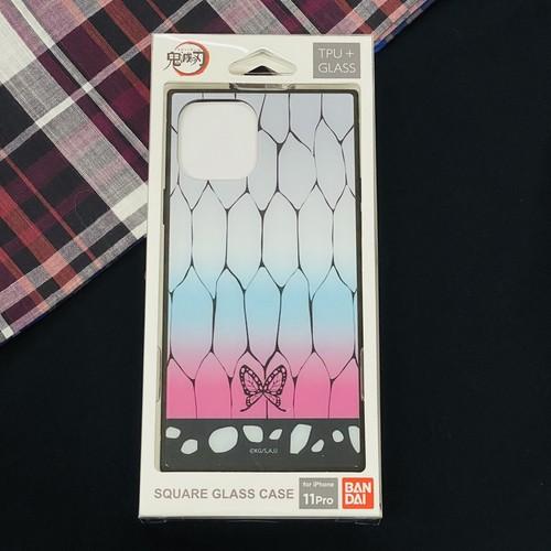 鬼滅の刃 iPhone11Pro対応スクエアガラスケース【胡蝶 しのぶ(こちょう しのぶ)】