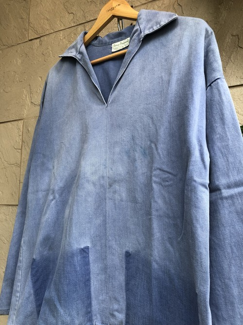 "Old British ""Antony Sheppard"" fisherman smock V-neck"