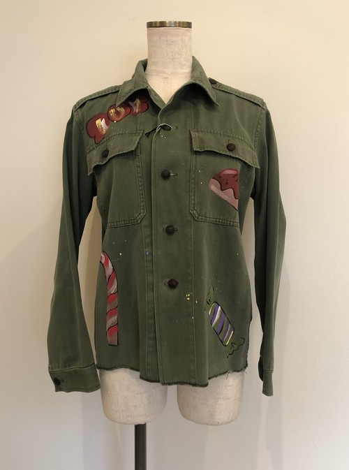 FRONT STREET8 hand painted jacket  CANDY