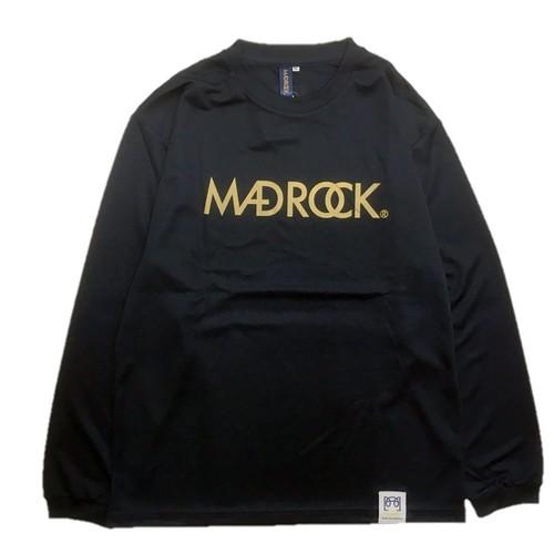 マッドロック / ロゴ ロンT / ドライタイプ / ネイビー&ゴールド